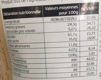 Souchet épluché Bio - 350 G - Informations nutritionnelles - fr