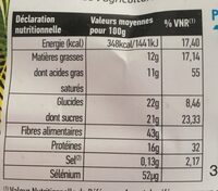 Farine De Coco Bio - 1 KG - Ethnoscience - Informations nutritionnelles - fr