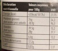 4 superfruits croquants - Voedingswaarden - fr