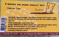8 Gaufres Pur Beurre Chocolat Noir - Produit - fr