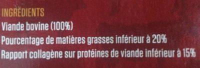 10 Steaks Hachés Pur Bœuf - Ingrédients