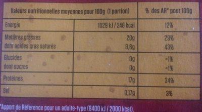 10 Steaks Hachés Pur Bœuf - Informations nutritionnelles