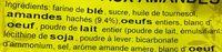 Croquets aux amandes - Ingrédients