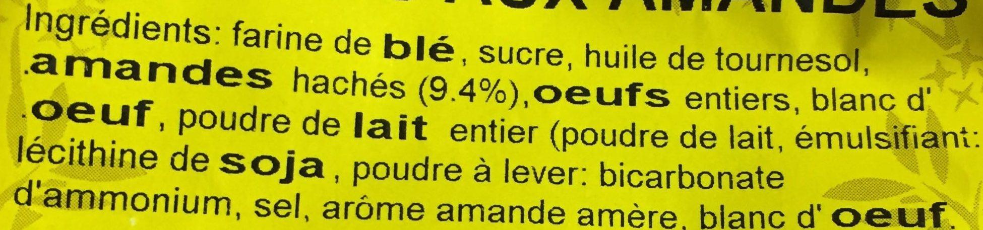 Croquets aux amandes - Ingredients