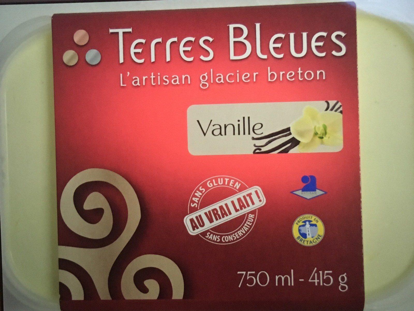 Creme glacee a la vanille TERRES BLEUES - Produit
