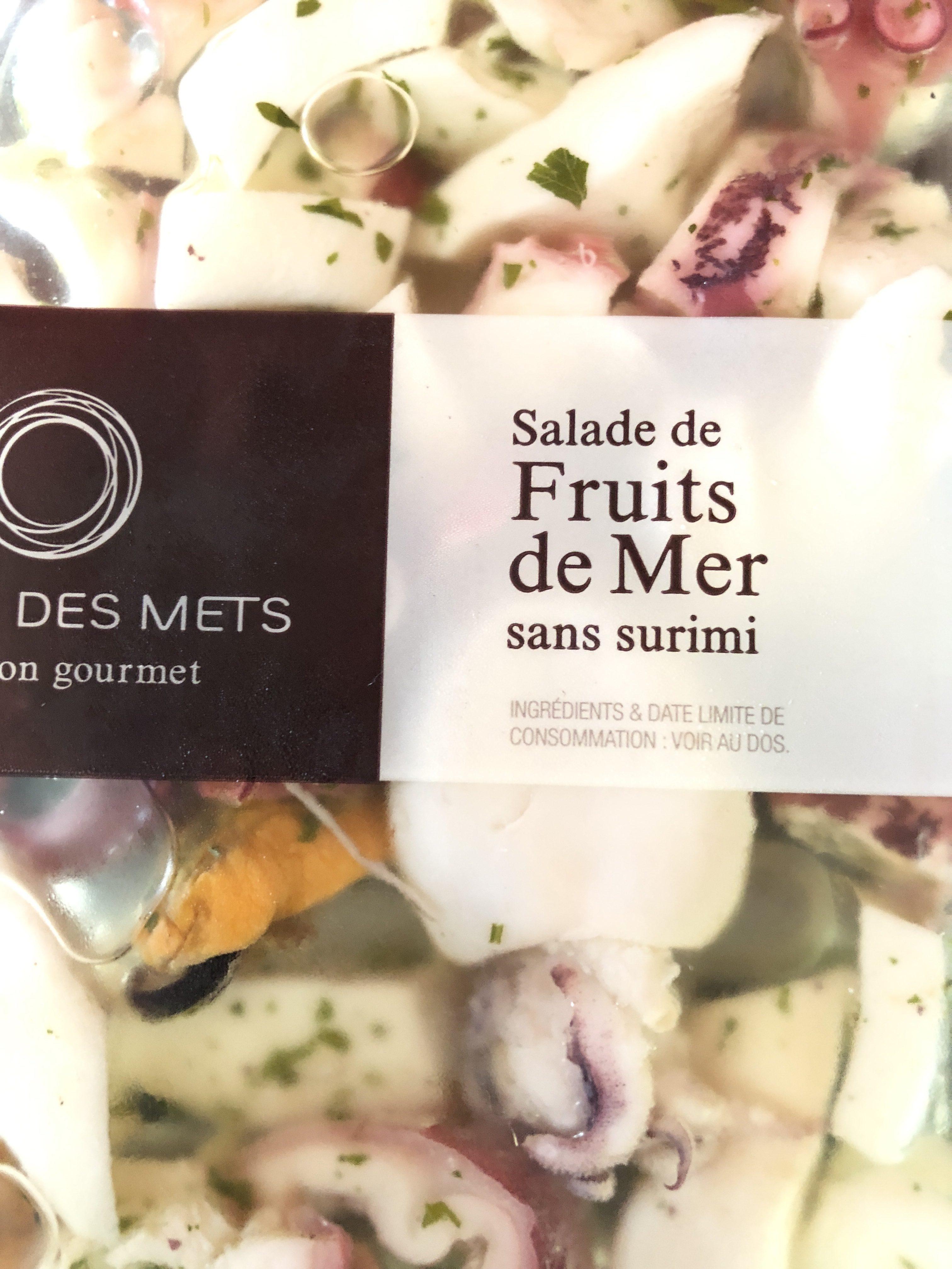 Salade Palais des mets Fruits de mer sans surimi - Ingrédients - fr