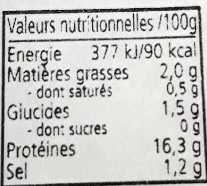 Cocktail de Fruits de mer - Nutrition facts - fr
