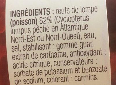 Oeufs de lompe rouges - Ingrédients - fr