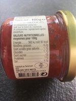 Oeufs de lompe rouges - Informations nutritionnelles - fr