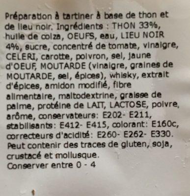Salade Palais des Mets Au thon piquant - Ingredients
