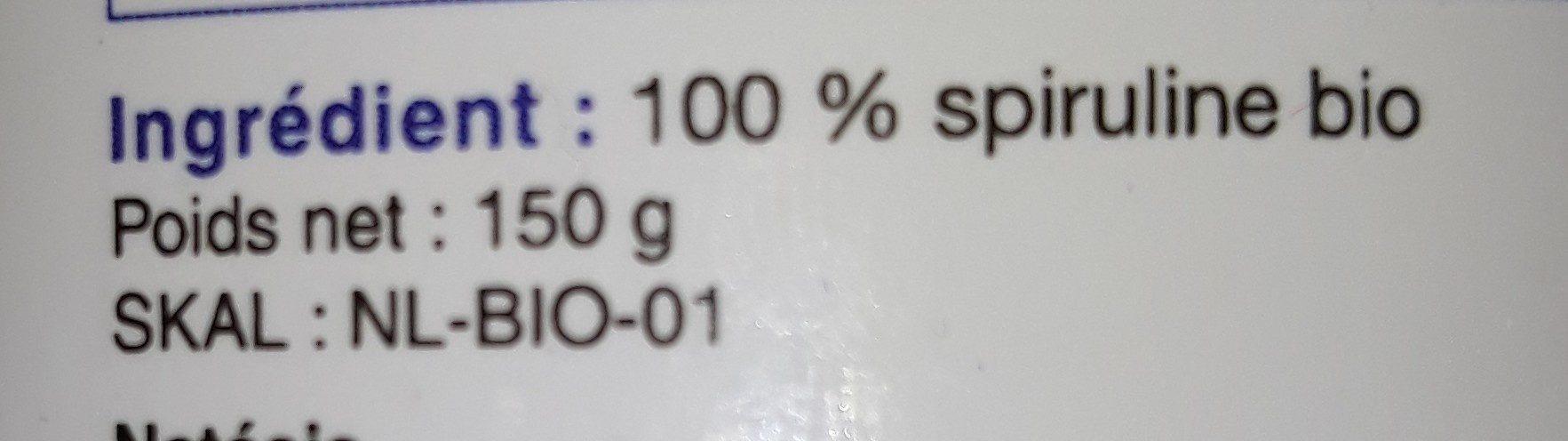Spiruline Natésis Bio Certifiée bio 300 Comprimés 500 MG - 0.15KG - Ingredients - fr