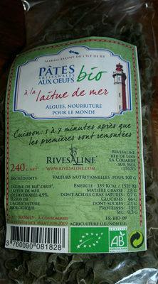 Pates bio - Produit - fr