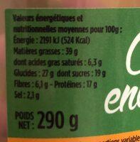 Cocktail Énergie-Mix - Informations nutritionnelles - fr