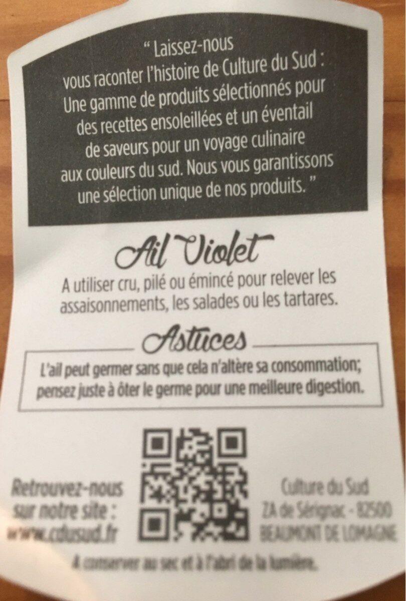 Ail violet - Ingredienti - fr