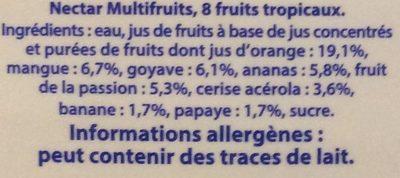 Nectar Multifruits 8 fruits tropicaux - Ingredienti - fr