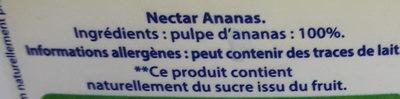 Nectar Ananas - Ingredienti - fr