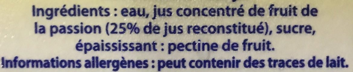 Caresse Guyanaise Maracudja - Ingredienti - fr