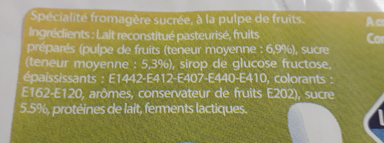petits sacripants pêche framboise - Ingredienti - fr