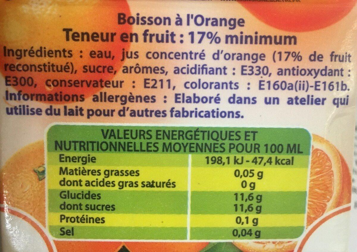boisson orange - Ingrediënten