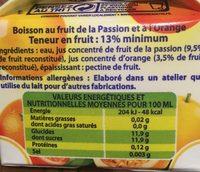 boisson Orange Passion - Ingrediënten