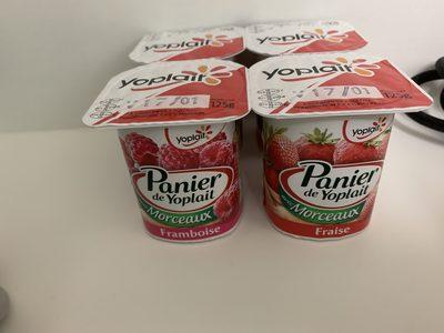 Panier de yoplait fraise/framboise - Produit - fr