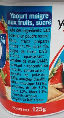panier fraise 0% - Ingredients