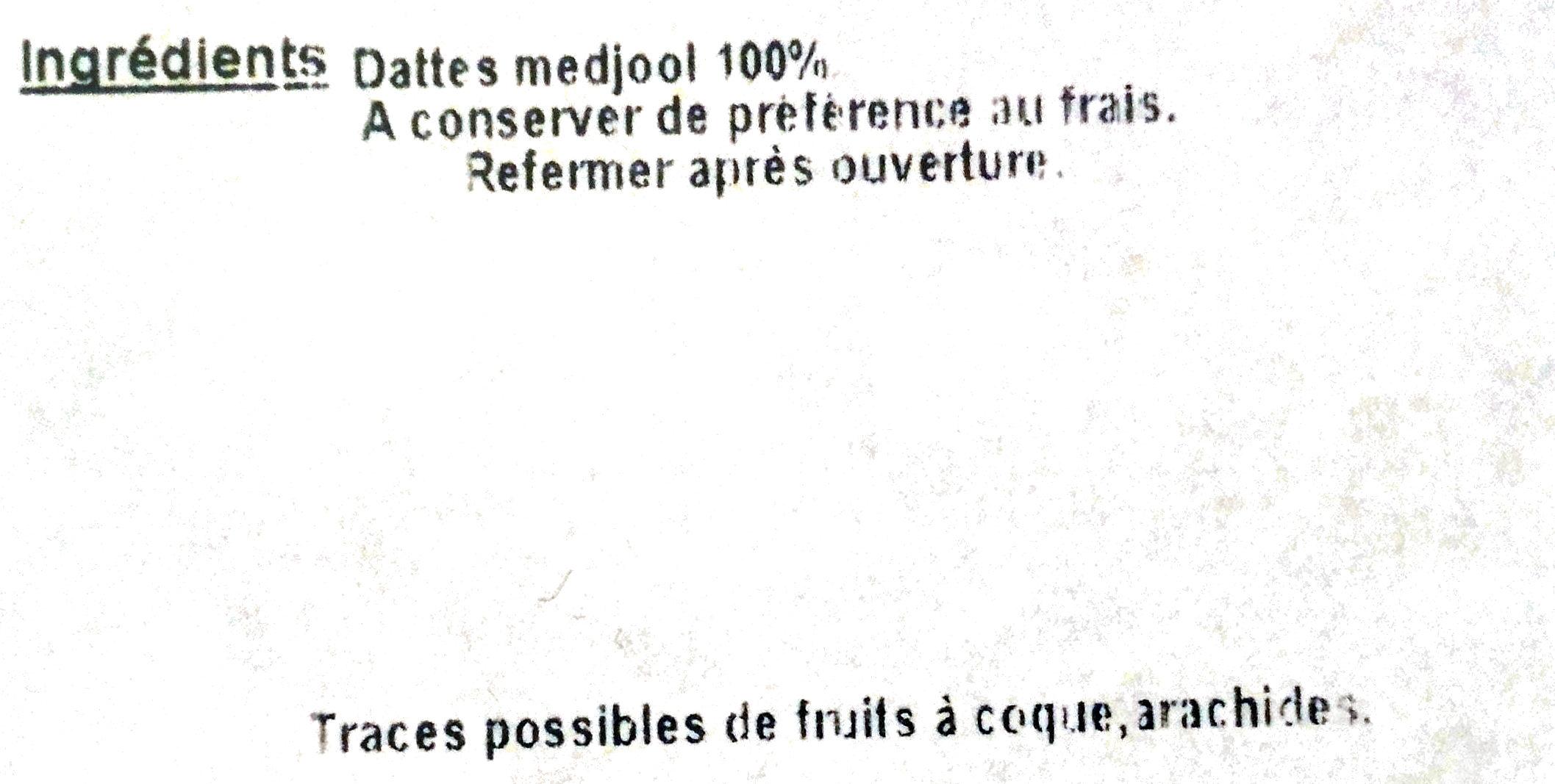 Dates Medjool - Ingrediënten - fr