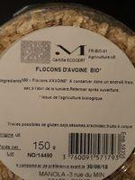 Flocons d'avoine bio - Ingrédients - fr