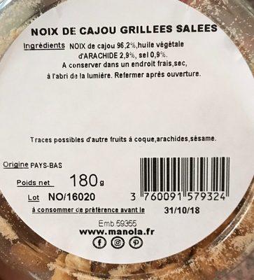 Noix de cajou - Ingrediënten - fr