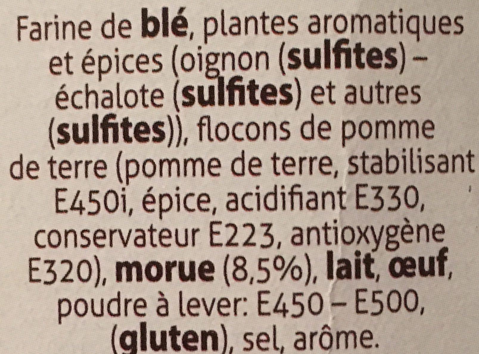 Accras de morue - Ingrédients - fr