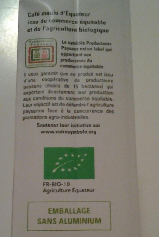Café équateur - Ingredients