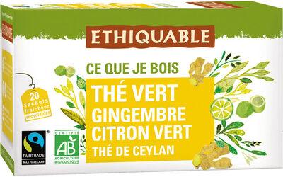 Thé vert gingembre citron vert - Product - fr