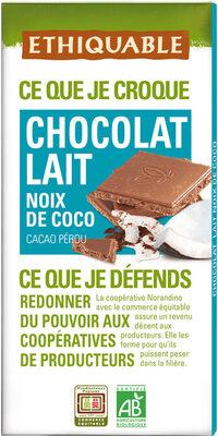 Chocolat lait noix de coco - Produit