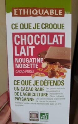 Chocolat lait nougatine noisette - Produit - fr