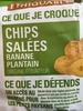 Chips salées banane plantain - Product