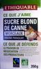 Sucre blond de canne en morceaux Bio Ethiquable - Produit