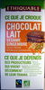 Chocolat au lait sésame gingembre Cacao origine République Dominicaine Ethiquable - Product