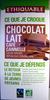 Chocolat au lait café cannelle Cacao origine République Dominicaine Ethiquable - Produit