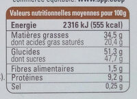 Chocolat au lait café cannelle Cacao origine République Dominicaine Ethiquable - Nutrition facts