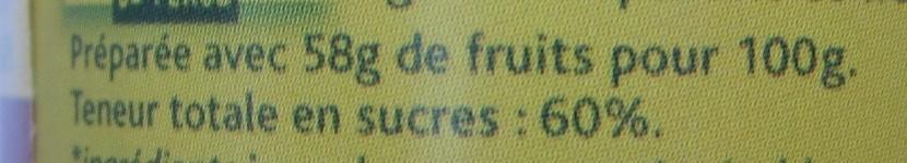 Confiture d'orange et de citron vert - Nutrition facts - fr