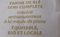 Farine de Blé Semi-complète - Ingrediënten - fr
