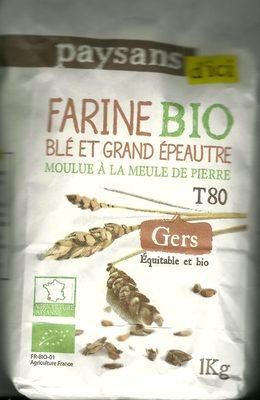 Farine Bio Blé et grand épeautre du Gers T80 - Product