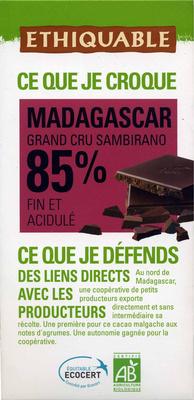Chocolat noir 85% Madagascar - Producto - es