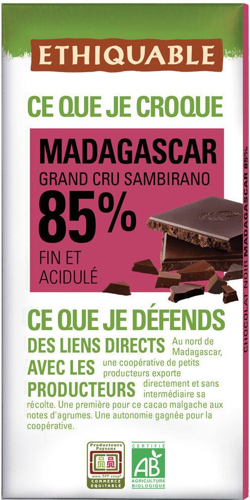 Chocolat noir 85% Madagascar - Product - fr