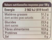 Chocolat noir 85% Madagascar - Nutrition facts - fr