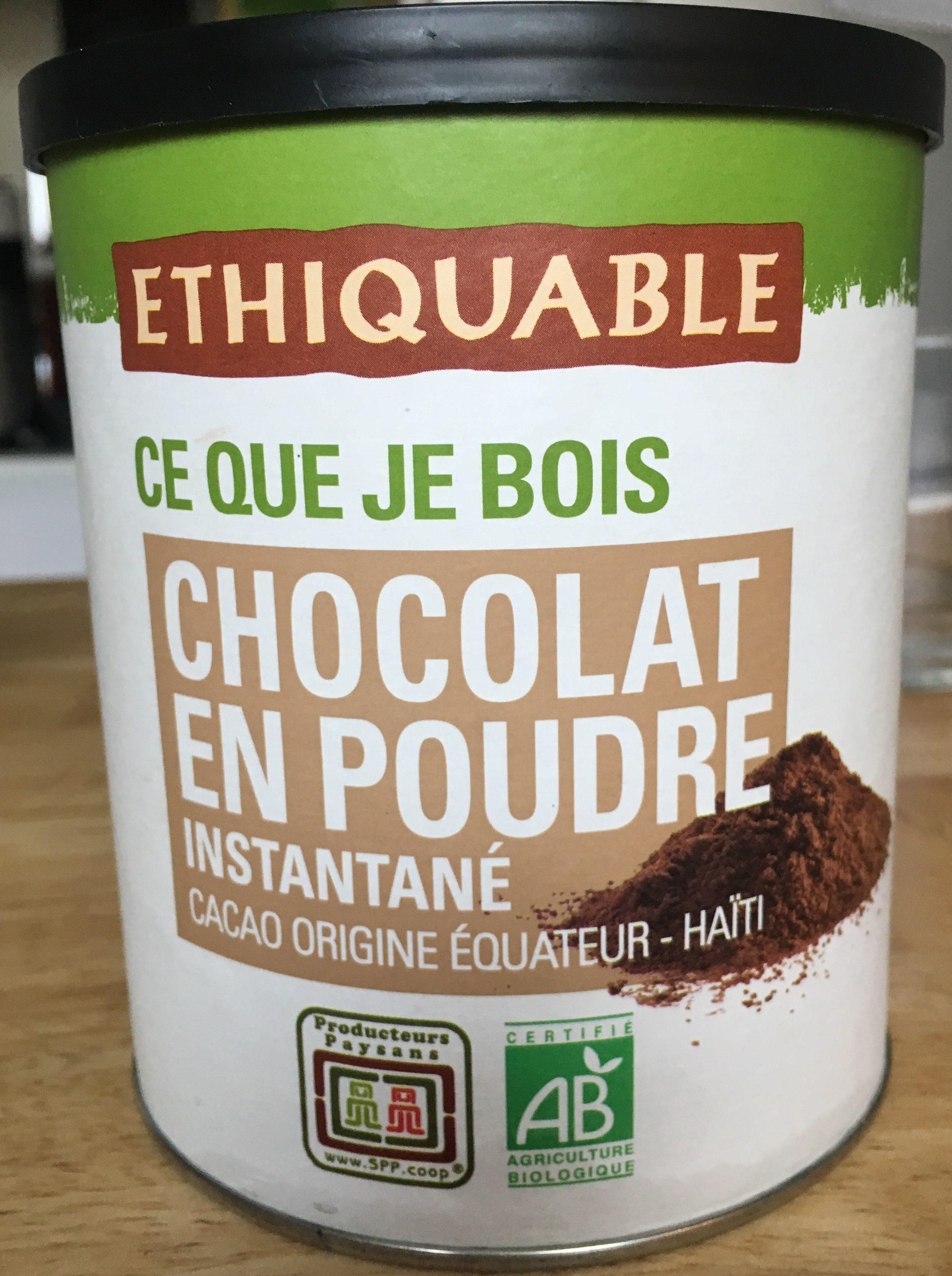 chocolat en poudre instantan ethiquable 400 g. Black Bedroom Furniture Sets. Home Design Ideas