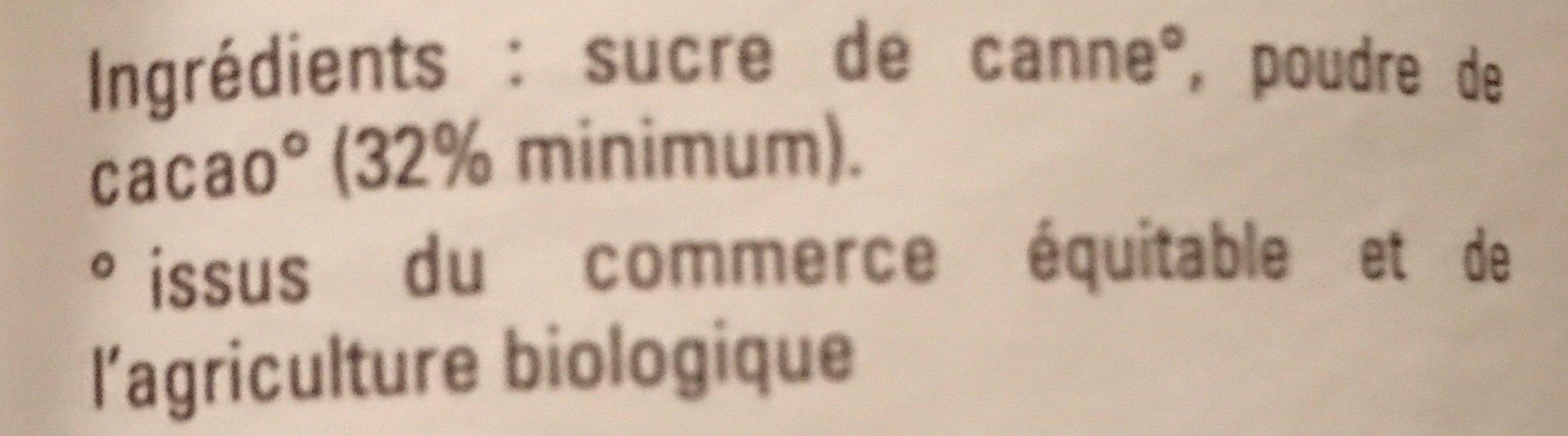 Chocolat en poudre Instantané - Ingrédients - fr