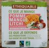 Pomme Mangue Litchi bio Ethiquable - Produit