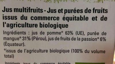 Pur jus Mangue Passion Pomme - Ingrédients - fr