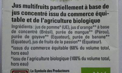 Multi Fruits - Ingrediënten - fr